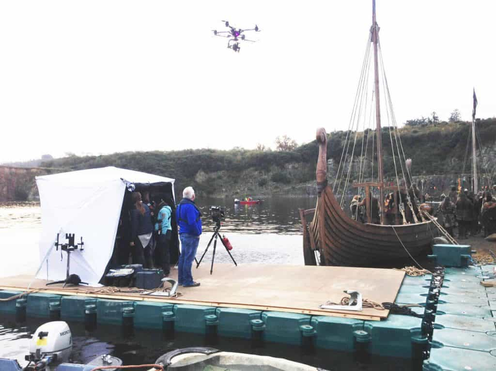Helping to film the Vikings 3