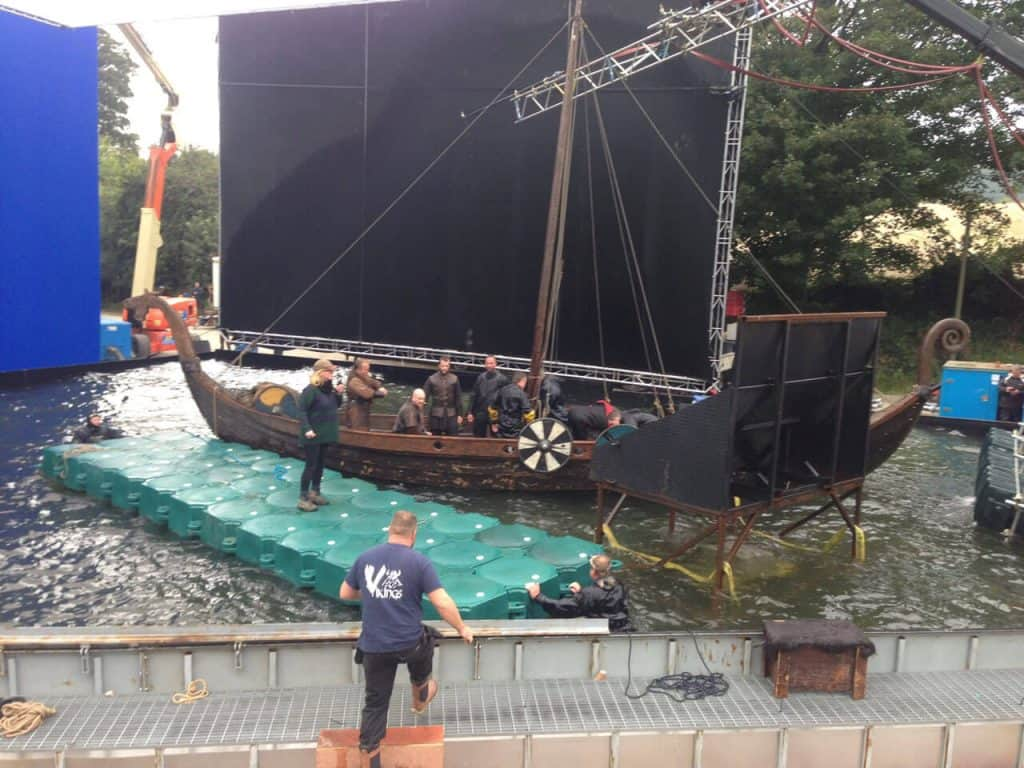 Helping to film the Vikings 4