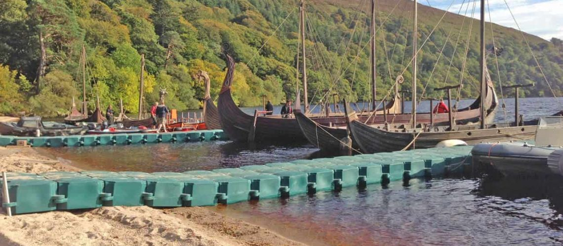 Airfloat Modular Pontoon System in use on set of The Vikings - 6